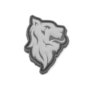 LBX_Lion Head PVC Patch (Wolf Grey)