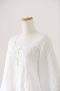 Pin Tuck Lace Blouse