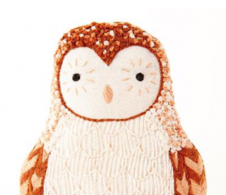 Barn Owl Embroidery Kit 刺繍キット (メンフクロウ)