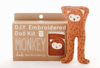 Monkey Embroidery Kit 刺繍キット(サル)