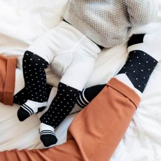 Baby trousers dots black ベビー水玉ブラックタイツ
