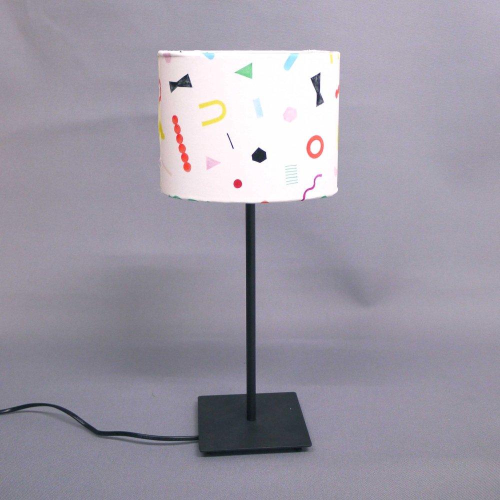 オリジナルテキスタイル( 幾何学 ) × ランプシェード手作りキット( size S )  Original textile ( geo ) × Lampshade DIY kit ( S )