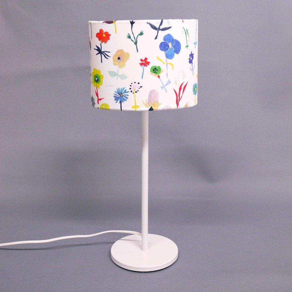 オリジナルテキスタイル( 花 ) × ランプシェード手作りキット( size S )  Original textile ( flower ) × Lampshade DIY kit ( S )