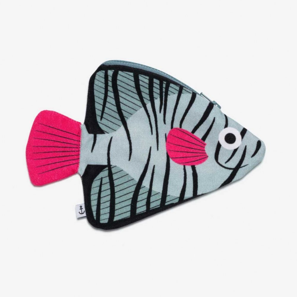 Aqua Batfish ツバメウオのポーチ(アクア)