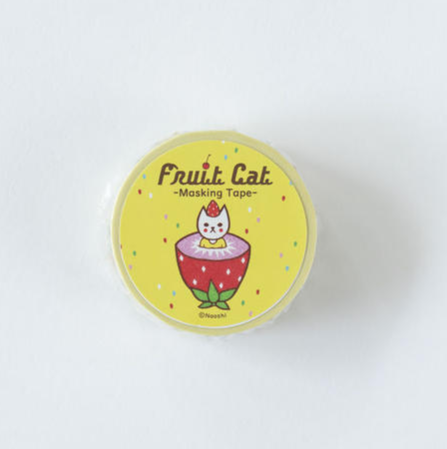 NAOSHI MASKING TAPE-FRUIT CAT マスキングテープ -フルーツ猫