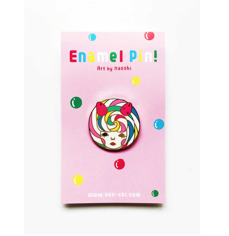 Enamel Pin -Lolipop Girl- エナメルピン (ロリポップガール )