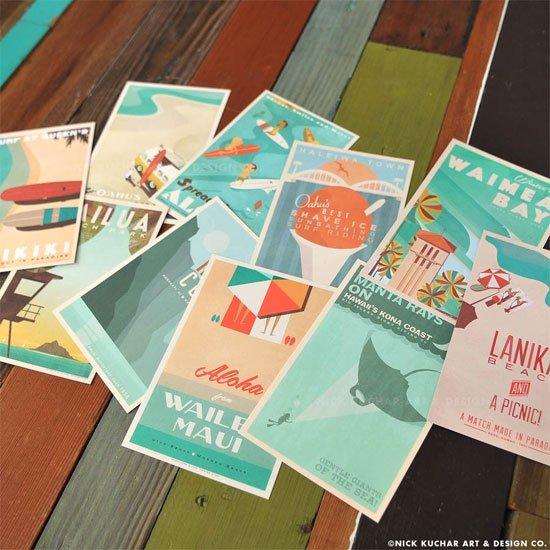 Nick Kuchar<br>ポストカードセット<br>Ten 4x6 cards