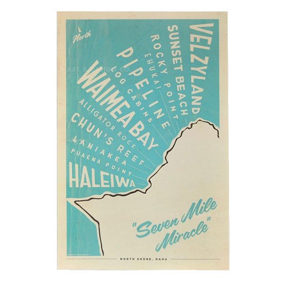 Nick Kuchar<br>Retro Hawaii Travel Print<br>
