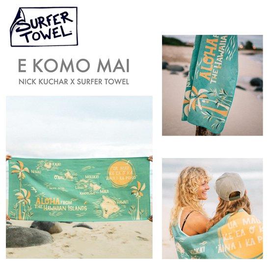 SURFER TOWEL<br>マイクロファイバータオル<br>NICK KUCHAR デザイン<br>