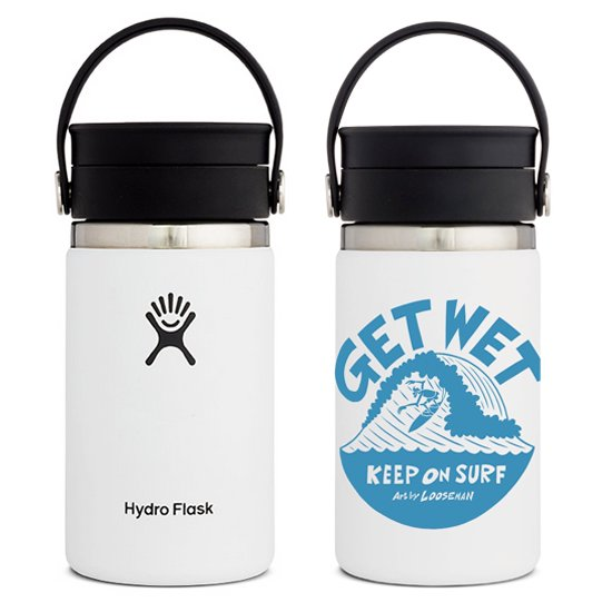 LOOSEMAN × Hydro Flask<br>コラボボトル12oz FLEX SIP<br>White