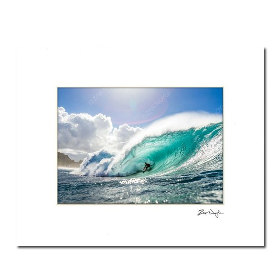 Zak Noyle<br>Matted Print<br>PIPELINE PERFECTION