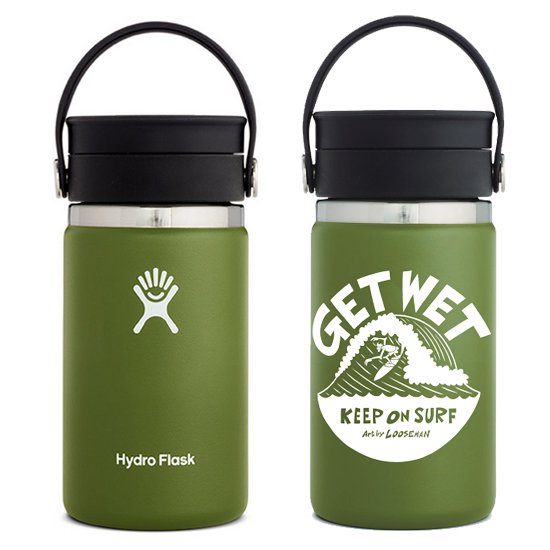 LOOSEMAN × Hydro Flask<br>コラボボトル12oz FLEX SIP<br>Olive
