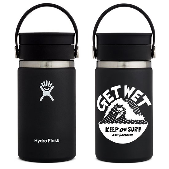 LOOSEMAN × Hydro Flask<br>コラボボトル12oz FLEX SIP<br>Black
