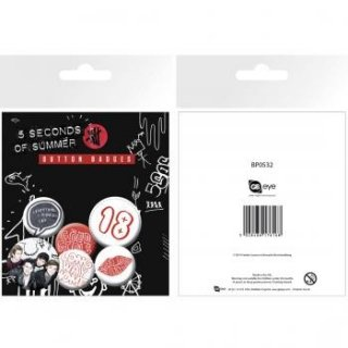 5 SECONDS OF SUMMER Button, バッジセット