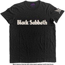 BLACK SABBATH Logo & Daemon with Applique Motifs, Tシャツ