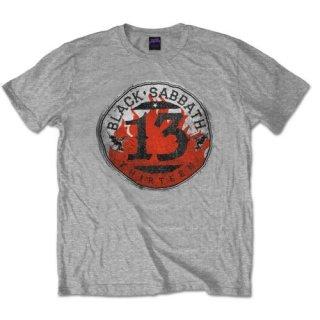 BLACK SABBATH 13 Flame Circle/Grey, Tシャツ