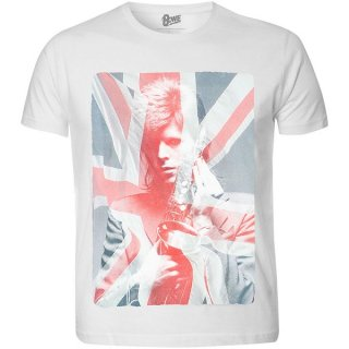 DAVID BOWIE Union Jack & Sax (Sublimation Print), Tシャツ