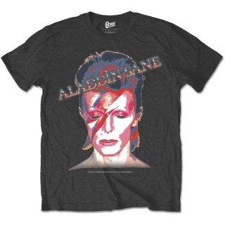 DAVID BOWIE Aladdin Sane Blk, Tシャツ