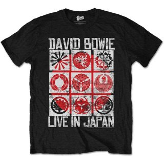 DAVID BOWIE Live in Japan Blk, Tシャツ