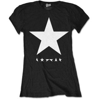 DAVID BOWIE Blackstar (White Star on Black), レディースTシャツ