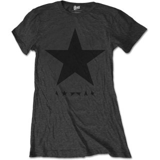 DAVID BOWIE Blackstar (on Grey), レディースTシャツ