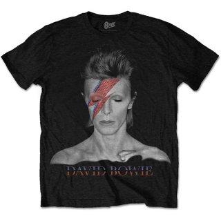 DAVID BOWIE Aladdin Sane Blk 2, Tシャツ