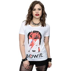 DAVID BOWIE Aladdin Sane Distressed, レディースTシャツ
