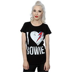 DAVID BOWIE I Love Bowie, レディースTシャツ