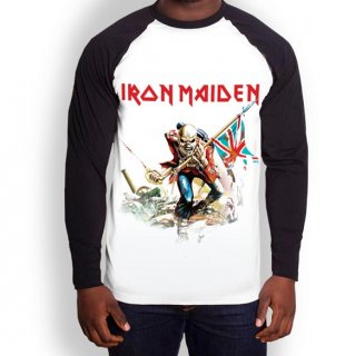 IRON MAIDEN Trooper, ラグランロングTシャツ