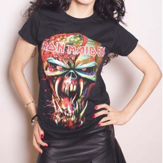 IRON MAIDEN Final Frontier with Skinny Fitting, レディースTシャツ