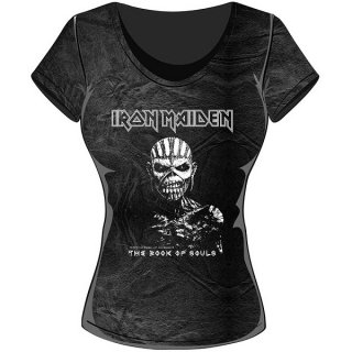 IRON MAIDEN The Book of Souls with Acid Wash Finish, レディースTシャツ