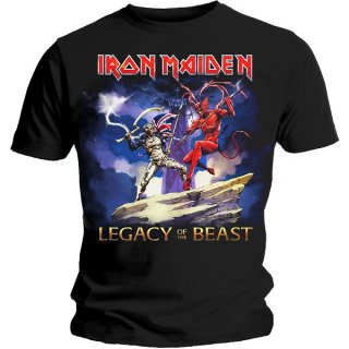 IRON MAIDEN Legacy Beast Fight with Back Printing, Tシャツ