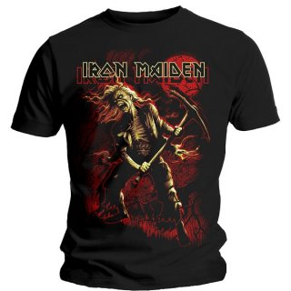 IRON MAIDEN Benjamin Breeg Red Graphic, Tシャツ