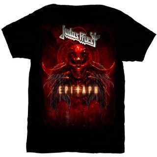 JUDAS PRIEST Epitaph Red Horns, Tシャツ