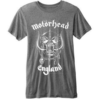 MOTORHEAD England With Burn Out Finishing, Tシャツ