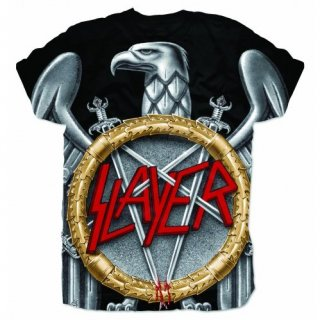 SLAYER Silver Eagle With Sublimation Printing, Tシャツ
