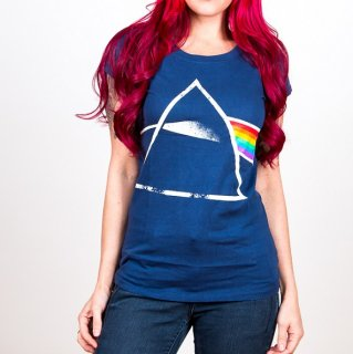 PINK FLOYD Dark Side Of The Moon with Back Printing, レディースTシャツ