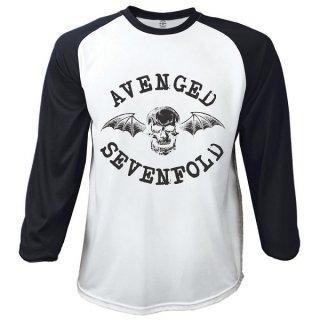 AVENGED SEVENFOLD Classic Death Bat, ラグラン七分袖シャツ