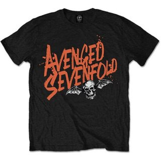 AVENGED SEVENFOLD Orange Splatter, Tシャツ