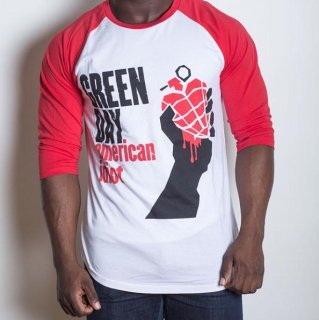 GREEN DAY American Idiot, ラグラン七分袖シャツ