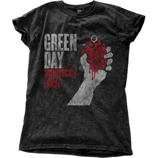 GREEN DAY American Idiot Vintage with Snow Wash Finishing, Tシャツ