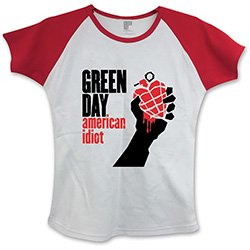 GREEN DAY American Idiot with Skinny Fitting, レディースTシャツ