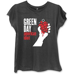 GREEN DAY American Idiot with Skinny Fitting Blk, レディースTシャツ