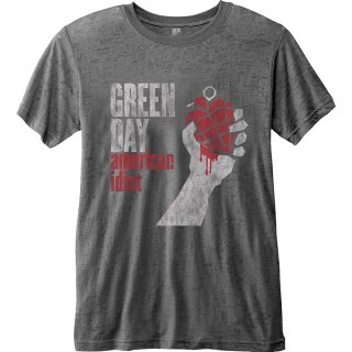 GREEN DAY American Idiot Vintage With Burn Out Finishing, Tシャツ