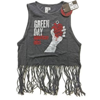 GREEN DAY American Idiot Vintage with Tassels 2, タンクトップ(レディース)