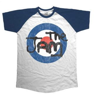 THE JAM Target Logo Distressed, ラグランTシャツ