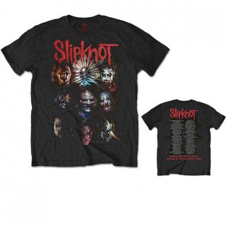 SLIPKNOT Prepare for Hell 2014-2015 Tour with Back Printing, Tシャツ