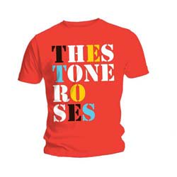 THE STONE ROSES Font Logo Red, Tシャツ