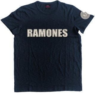 RAMONES Logo & Presidential Seal With Applique Motifs, Tシャツ