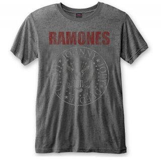RAMONES Presidential Seal With Burn Out Finishing, Tシャツ